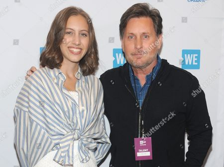 Alexandria Villasenor and Emilio Estevez
