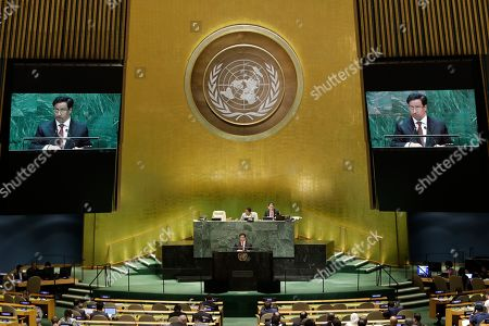 Stock Picture of Kuwait's Prime Minister Sheikh Jaber Al-Mubarak Al-Hamad Al-Sabah addresses the 74th session of the United Nations General Assembly, at the United Nations headquarters