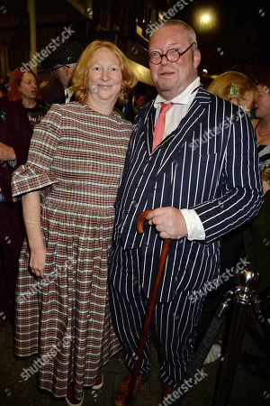 Stock Image of Margot Henderson, guest and Fergus Henderson