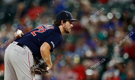 Boston Red Sox pitcher Josh Taylor prepares to pitch in the seventh inning of the MLB baseball game between the Texas Rangers and the Boston Red Sox at Globe Life Park in Arlington, Texas, USA, 25 September 2019.