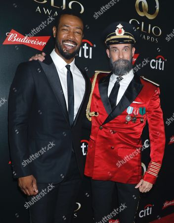 Isaiah Mustafa and Brandon Moynihan