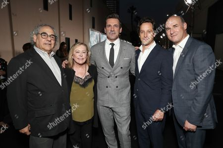 Steve Gilula, Nancy Utley, Jon Hamm, David Greenbaum and Matthew Greenfield