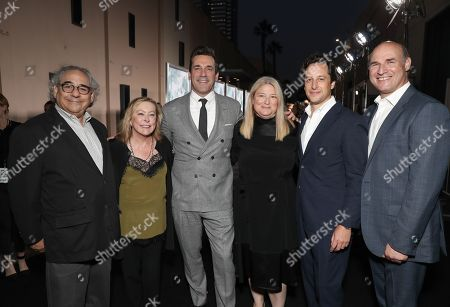 Steve Gilula, Nancy Utley, Jon Hamm, Bruna Papandrea, David Greenbaum and Matthew Greenfield