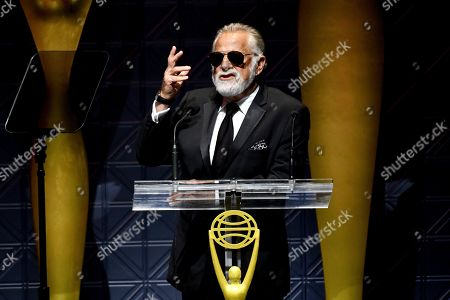 Jonathan Goldsmith speaks at the 60th Annual Clio Awards at The Manhattan Center, in New York