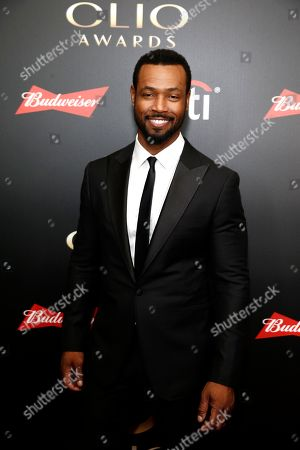Isaiah Mustafa on the red carpet before the 60th Annual Clio Awards at The Manhattan Center on in New York