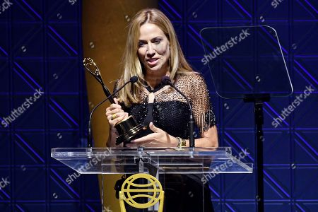 Sheryl Crow accepts the Clio Music Impact Award at the 60th Annual Clio Awards at The Manhattan Center, in New York