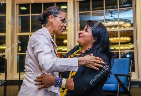 Stock Picture of Marina Silva and Sonia Guajajara