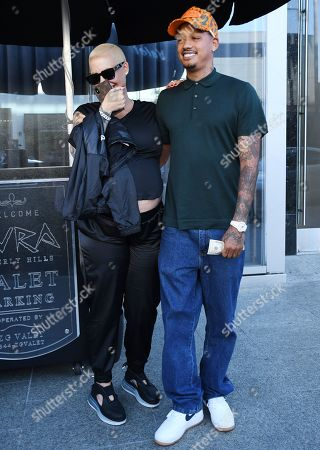 Stock Photo of Amber Rose and Alexander Edwards
