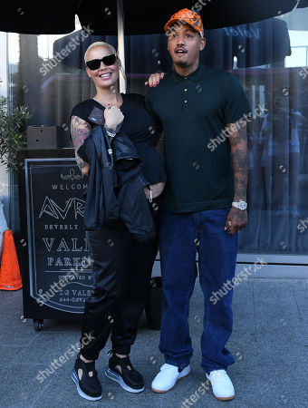 Stock Image of Amber Rose and Alexander Edwards