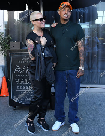 Editorial photo of Amber Rose and Alexander Edwards out and about, Los Angeles, USA - 25 Sep 2019