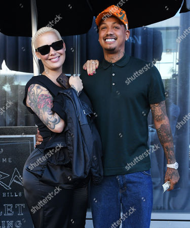 Stock Picture of Amber Rose and Alexander Edwards