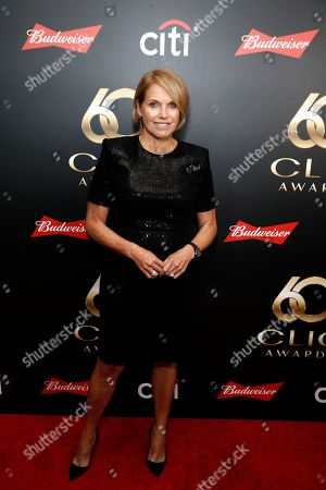Katie Couric on the red carpet before the 60th Annual Clio Awards at The Manhattan Center on in New York