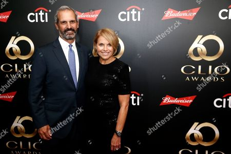 Katie Couric and John Molner on the red carpet before the 60th Annual Clio Awards at The Manhattan Center on in New York