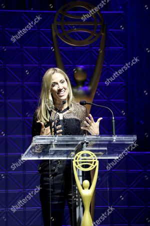 Sheryl Crow speaks on stage at the 60th Annual Clio Awards at The Manhattan Center on in New York