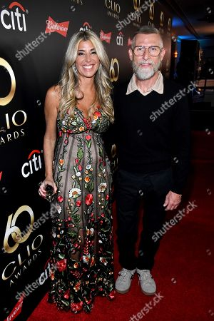 Clio President, Nicole Purcell and designer Todd Oldham on the red carpet at the 60th Annual Clio Awards at The Manhattan Center, in New York