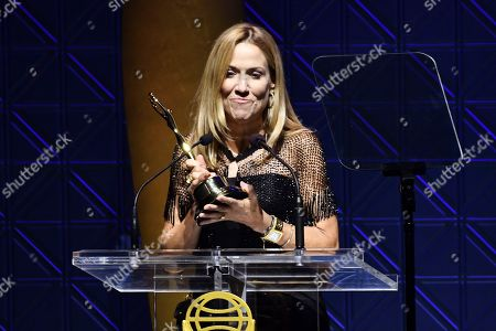 Sheryl Crow accepts a Clio Music Impact Award at the 60th Annual Clio Awards at The Manhattan Center, in New York