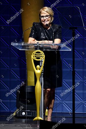 Katie Couric speaks at the 60th Annual Clio Awards at The Manhattan Center, in New York