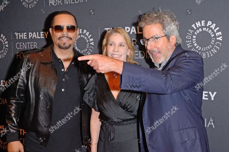 (L to R) Ice-T, Julie Martin and Warren Leight