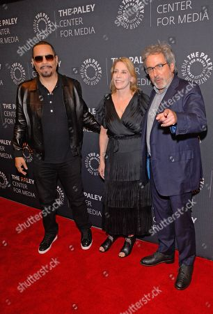 Stock Picture of (L to R) Ice-T, Julie Martin and Warren Leight