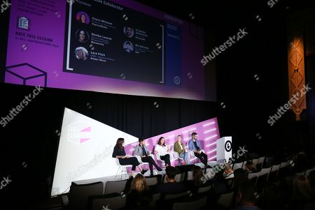 Stock Picture of Danika Laszuk (General Manager, Betaworks Camp, Betaworks), Niz Safrudin (Sr. Consultant for Idea Development, SAP), Claire Mitchell (Director of VaynerSmart, VaynerMedia), Lara Fitch (COO + Head of Product, Amper Music), Cristobal Valenzuela (Co-Founder, RunwayML)
