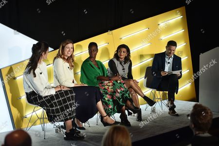 Caroline Gogolak (VP of Retail, SoulCycle), Katie Klumper (Principal, Heat + Deloitte Digital), Monique Nelson (Chair & CEO, UWG), Reem Abeidoh (Head of Global GTM, LinkedIn), and Spencer Gerrol (CEO & Founder, Spark Neuro)