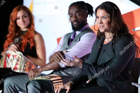 Becky Lynch (WWE Superstar, WWE); Kofi Kingston (WWE Superstar, WWE); Stephanie McMahon-Levesque (Chief Brand Officer, WWE);