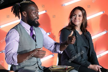 Kofi Kingston (WWE Superstar, WWE); Stephanie McMahon-Levesque (Chief Brand Officer, WWE)