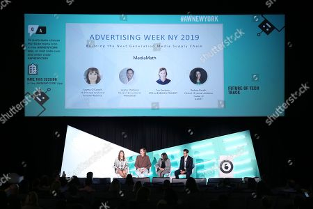 Editorial image of Building the Next Generation Media Supply Chain seminar, Advertising Week New York, AMC Lincoln Square, New York, USA - 26 Sep 2019