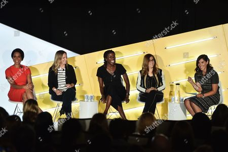 Sade Baderinwa (Anchor, Eyewitness News,WABC-TV), Chelsea Parker (Senior Marketing Manager, Coors Light), Rosalyn Durant (SVP, College Networks, ESPN), Hilary Estey McLoughlin (Senior Executive Producer, The View & Nonfiction Content), and Lisa Valentino (EVP, Client & Brand Solutions, Disney)