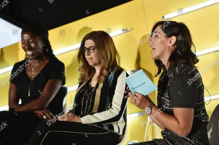 Stock Image of Rosalyn Durant (SVP, College Networks, ESPN), Hilary Estey McLoughlin (Senior Executive Producer, The View & Nonfiction Content), and Lisa Valentino (EVP, Client & Brand Solutions, Disney)