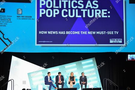 Editorial picture of Politics as Pop Culture: How the News Has Become the New Must-See TV and What to Know Heading into 2020 seminar, Advertising Week New York, AMC Lincoln Square, New York, USA - 26 Sep 2019