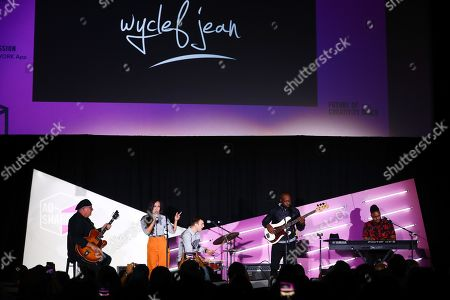 Editorial photo of Wyclef Jean Presents a Creative Production Masterclass seminar, Advertising Week New York, AMC Lincoln Square, New York, USA - 26 Sep 2019