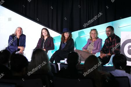Jeff Goodby (Co-Chairman & Partner, Goodby, Silverstein & Partners), Brittany Kaiser (Co-founder, Digital Asset Trade Association), Jehane Noujaim (Director, The Great Hack), Geralyn Dreyfous (Producer, The Great Hack) and Karim Amer (Director, The Great Hack)