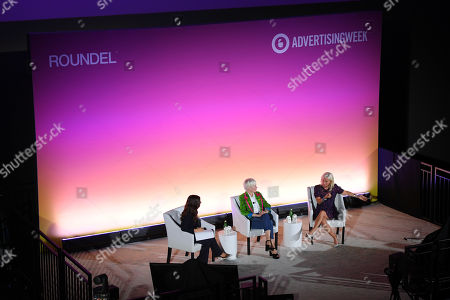 Sara Fischer (Media Reporter, Axios), Joanna Coles (Founder & Chief Creative Officer, Boudica) and Carolyn Everson (VP, Global Marketing Solutions, Facebook)