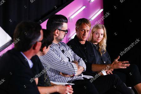 Tim Nudd (Editor in Chief, Clio Awards), Jaime Robinson (Chief Creative Officer, Joan Creative), Jose Sebastian Gomez (Executive Creative Director, ATK PLN), Tony Hawk (Professional Skateboarder/Co-Founder, D/CAL), Marie Ronn (Group Creative Director, Spotify)