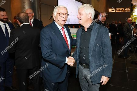 Stock Image of David Stern (Commission Emeritus NBA) and David Levy (CEO, President of the Brooklyn Nets, Barclay Center and Joe Tsai Sports)