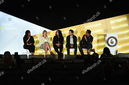 Dia Simms (President, Combs Enterprises), Meredith Guerriero (US Head of Partnerships, Pinterest), Thai Randolph (GM and EVP, Kevin Hart's Laugh Out Loud Network), Mike Rothman (CEO, Fatherly), and John Dioso (Studio 30 Editor, Ad Age)