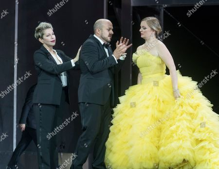 Joyce DiDonato as Agrippina, Gianluca Buratto as Claudio, Lucy Crowe as Poppea,