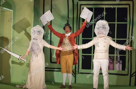 Rhian Lois as Daub, Michel de Souza as Robert, Patrick Terry as Wattle