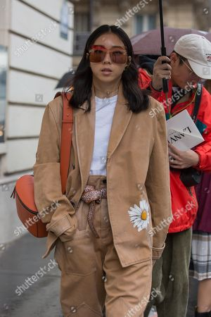 Editorial picture of Street Style, Spring Summer 2020, Paris Fashion Week, France - 25 Sep 2019