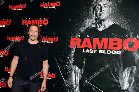 Spanish cast actor Sergio Peris-Mencheta poses during the presentation of the film 'Rambo: Last Blood' in Madrid, Spain, 26 September 2019. The film will be premiered on theaters in Spain 27 September 2019.