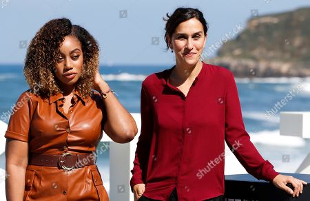 Sarah Gavron (R) and British scriptwriter Theresa Ikoko (L) pose during the presentation of their film 'Rocks' within the official section in the 67th edition of the San Sebastian International Film Festival, 26 September 2019, in San Sebastian, Spain.