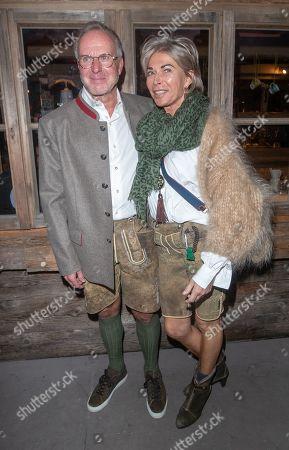 Karl-Heinz Rummenigge with wife Martina Rummenigge
