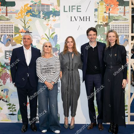 Antonio Belloni LVMH Group Managing Director, Maria Grazia Chiuri artistic director of Dior, Stella McCartney, Antoine Arnault LVMH Communications and Delphine Arnault.