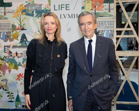 Bernard Arnault Chairman and CEO LVMH Group and Delphine Arnault.