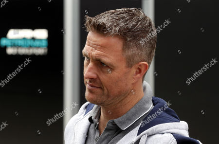 Ralf Schumacher, former German race driver,  reacts in the paddock at the Sochi Autodrom circuit, in Sochi, Russia, 29 September 2018.