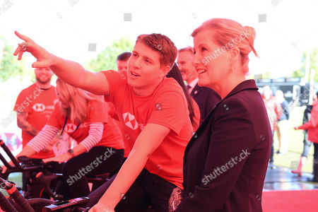 Sophie Countess of Wessex visits British Cycling.