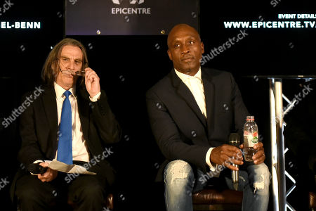 Stock Image of Nigel Benn during a Press Conference at The Steelyard on 26th September 2019