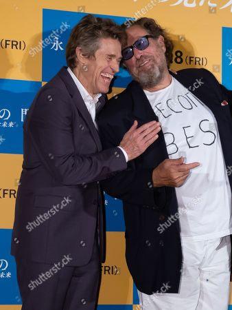 Willem Dafoe and Julian Schnabel during a stage greeting
