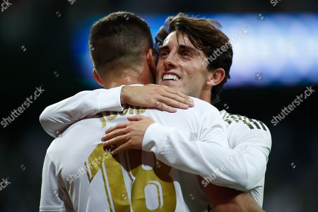 Luka Jovic of Real Madrid celebrates a goal cancelled